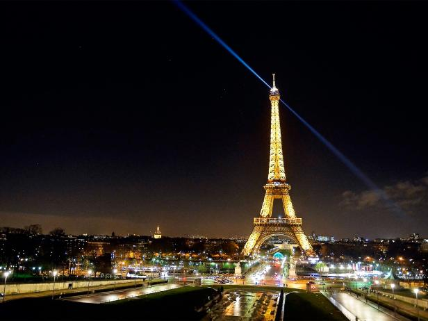 Eiffel Tower, lights, Paris, France