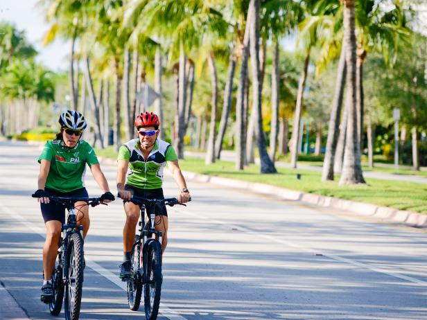 bike, rental, riders, Key Biscayne, Florida