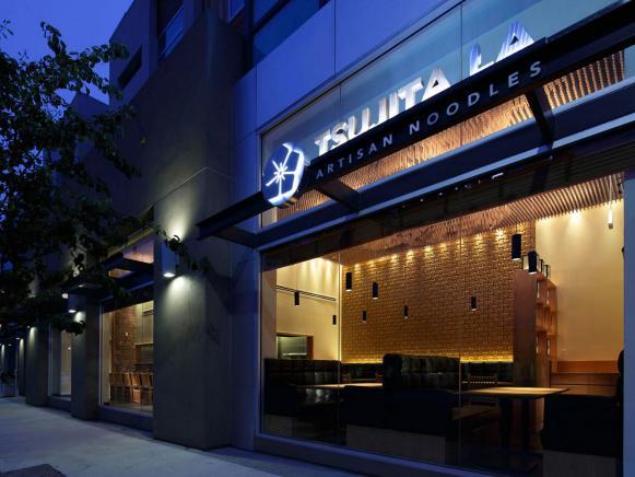 Tsujita La Noodle Restaurant Exterior Los Angeles California