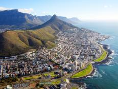 Cape Town, water front, mountains, South Africa
