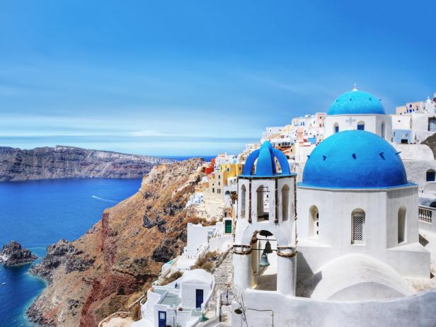 Santorini, cliffside, Greece