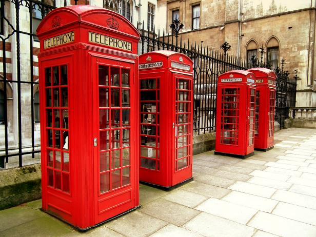 red telephone boxes, phone booth, attraction, london, united kingdom, street