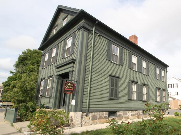 Exterior shot of Lizzie Borden House Bed and Breakfast
