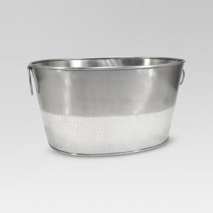 Hammered Metal Oval Beverage Tub