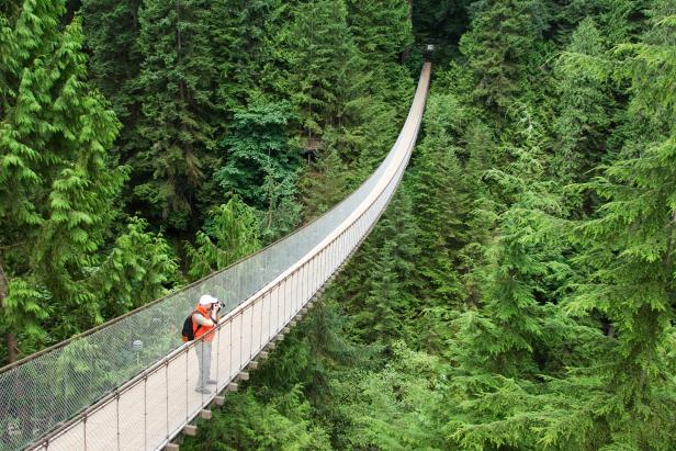 Capilano Suspension Bridge in Vancouver