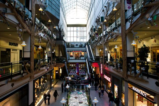 Eaton Centre Shopping Mall in Montreal