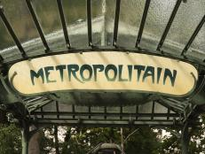 Vintage Paris Metro Sign